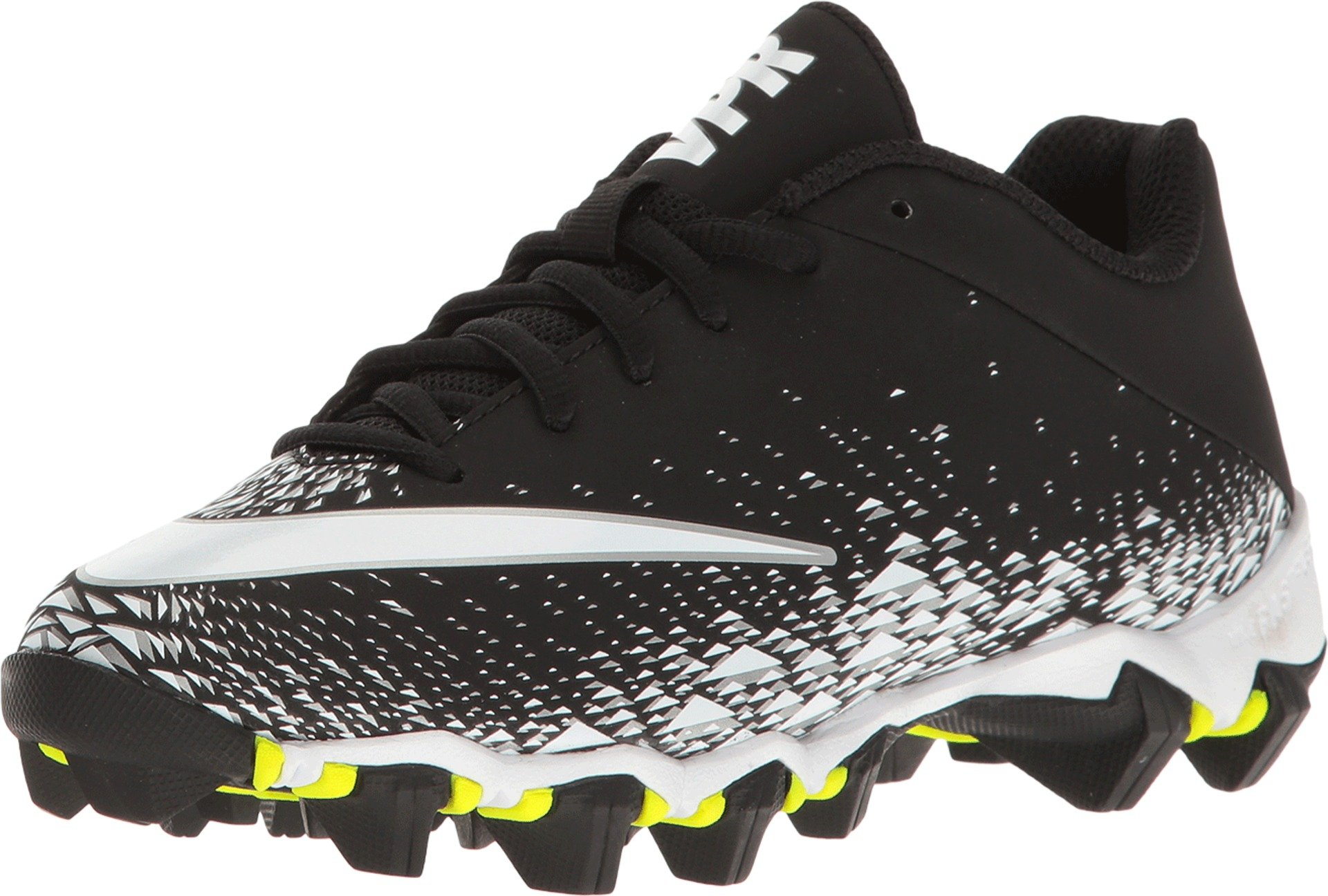 Nike Boy's Vapor Shark 2.0 (GS) Football Cleat Black/White/Metallic Silver Size 5 M US
