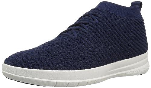 28395a80e3660 Fitflop Men s Uberknit Slip-on High Top Sneaker Waffle Hi Trainers ...