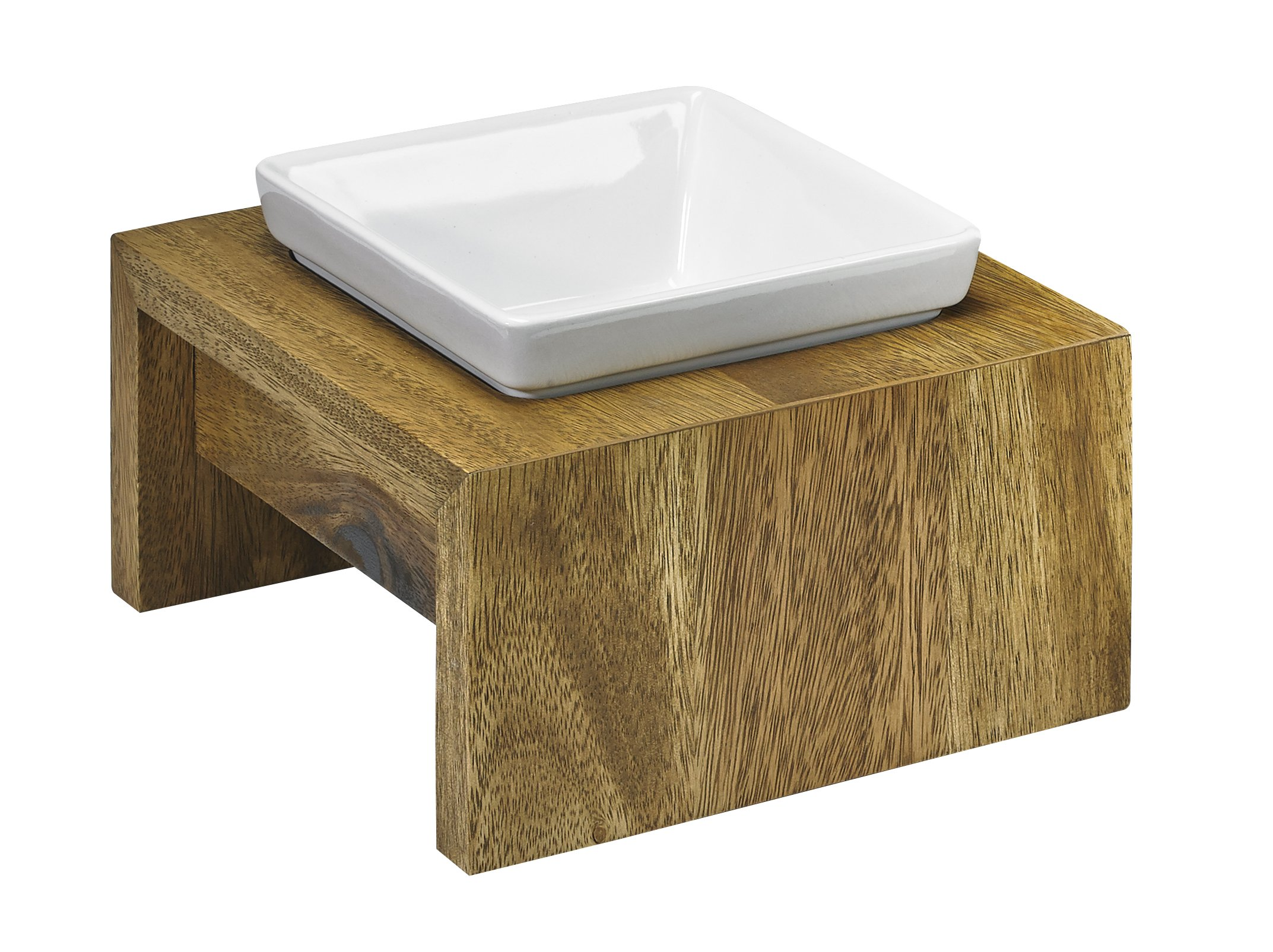 Bowsers Artisan Diner - Single Dog Feeder, Bamboo - Small - 7''x7''x4''