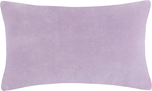 Kate Spade Reversible Velvet Linen 12X20 Pillow Lavender White Bedding, Lavender