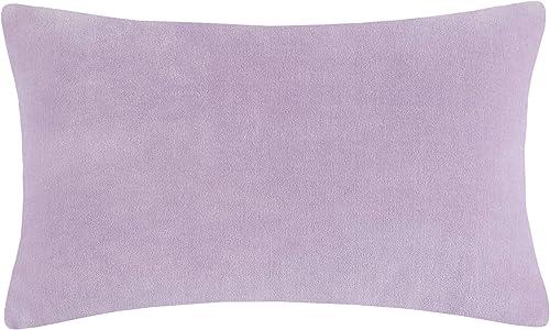 Kate Spade Reversible Velvet Linen 12X20 Pillow Lavender White Bedding, Lavender