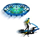 Force1 Indoor Mini Flying Toy Drones for Kids Bundle - 1 Scoot Hands Free LED UFO Drone with Motion Sensors and 1 Stunt…