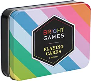 Chronicle Books Bright Games 2-Deck Set of Playing Cards, Bright Colors