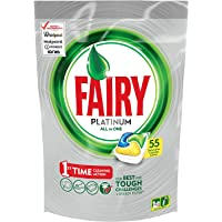 Fairy Platinum All In One Dishwasher Tablets Lemon 55 Pack
