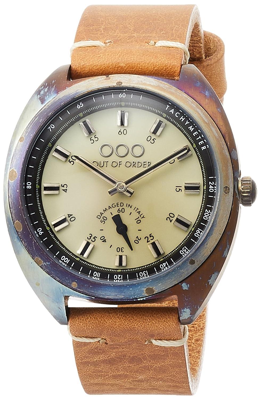 [アウトオブオーダー]Out Of Order 腕時計 TORPEDINE 38mm イタリア製 001-6.CR 【正規輸入品】 B071HTWZCD
