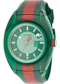 c0a4aeb0659 Gucci Quartz Stainless Steel and Rubber Casual Two-Tone Men s Watch(Model   YA137113