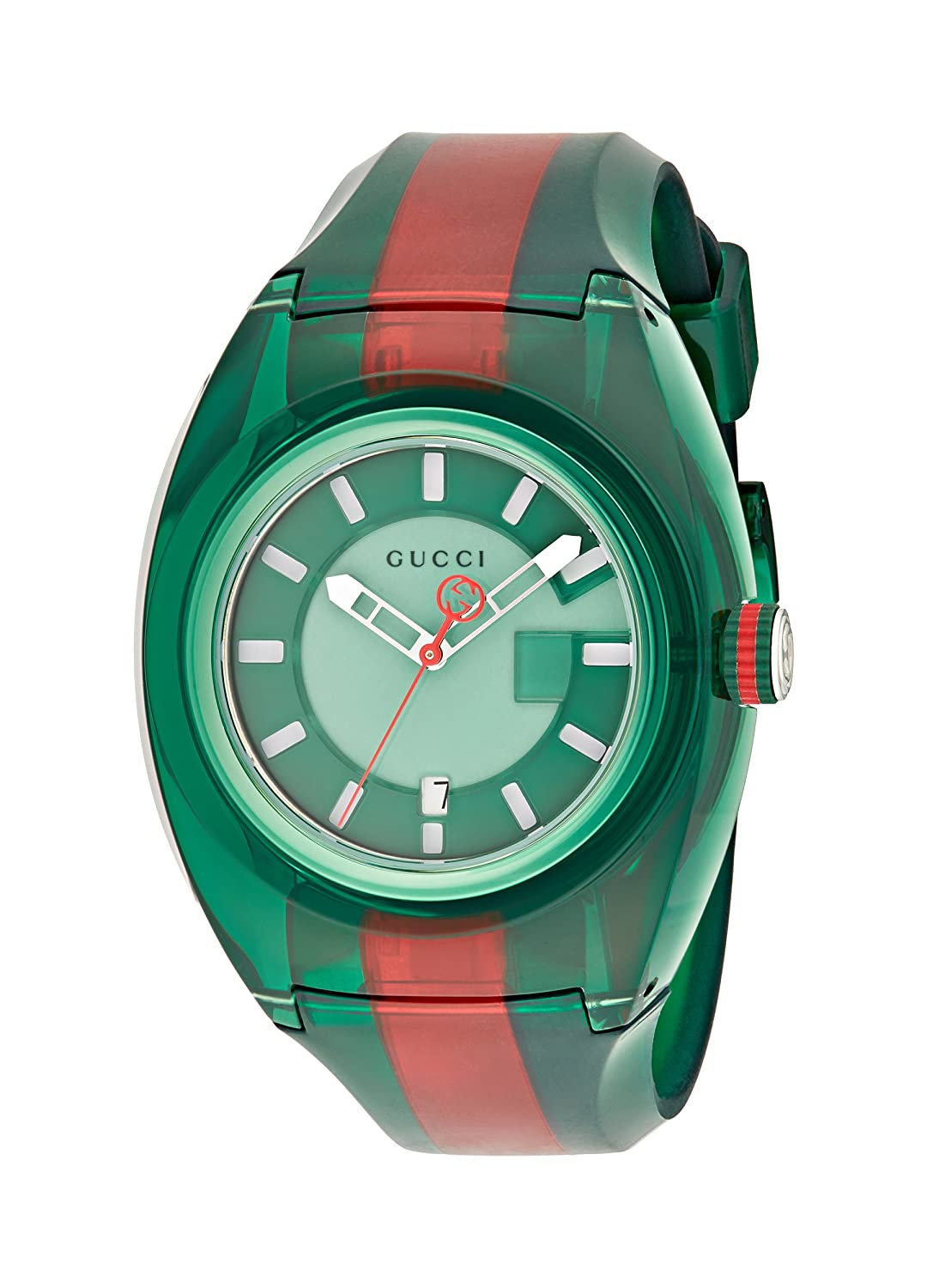 8ea475a478c Amazon.com  Gucci Quartz Stainless Steel and Rubber Casual Two-Tone Men s  Watch(Model  YA137113)  Watches