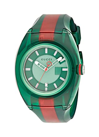 9d8e9b0dc08 Image Unavailable. Image not available for. Color  Gucci Quartz Stainless  Steel and Rubber Casual Two-Tone Men s ...