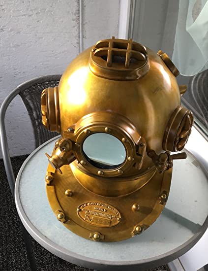 Smart Nautical Antique Deep Diving Divers Helmet Mark V Maritime Replica Home Decor Diving Helmets Maritime
