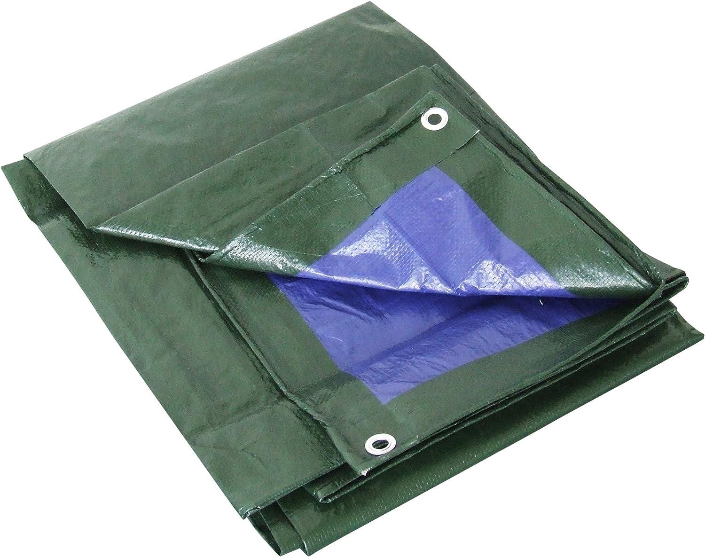 Labor 0300152Lona de PVC reforzada con ojales, verde, 0300152