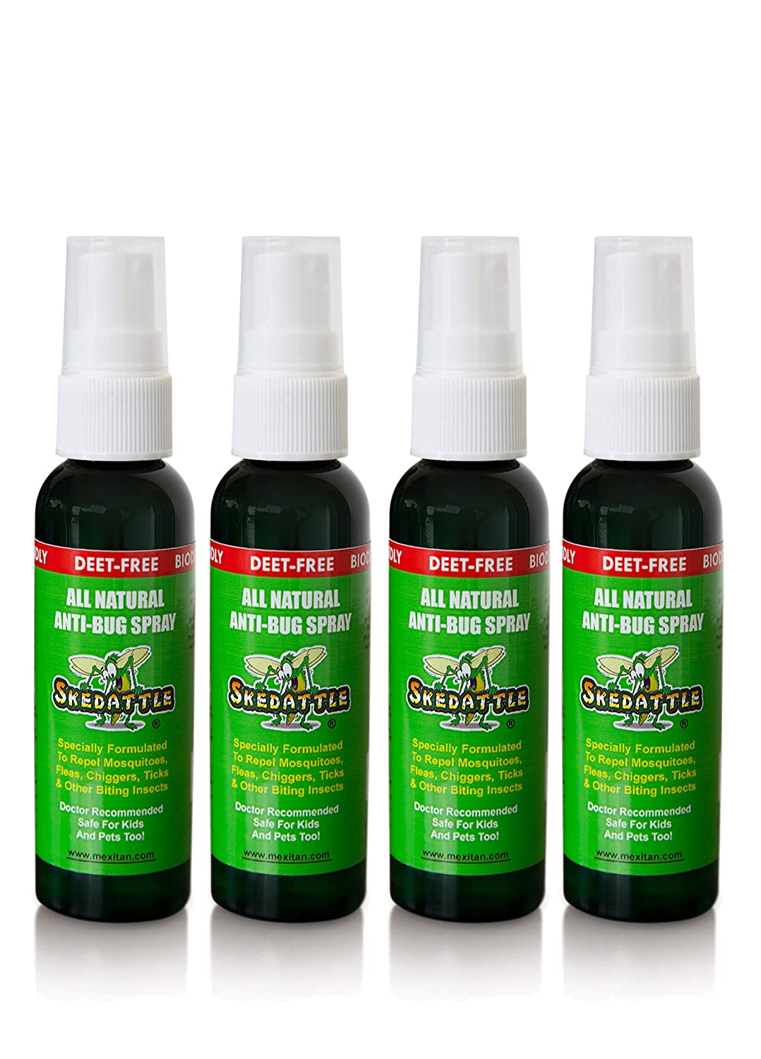 Skedattle - Natural Bug Spray | Non-Toxic, Chemical-Free Insect Repellent with Lemongrass and Essential Oils
