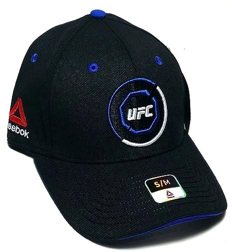 5ae18d76cfb3e Amazon.com : UFC Reebok RBK MMA Black Blue Octagon Fighter's Flex ...