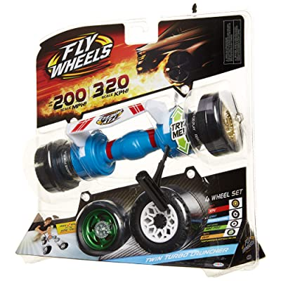 Fly Wheels Twin Turbo Launcher- Rip it up to 200 Scale MPH, Fast Speed, Amazing Stunts & Jumps up to 30 feet! All Terrain Action: Dirt, Mud, Water, Snow- One of The Hottest Wheels Around!: Toys & Games