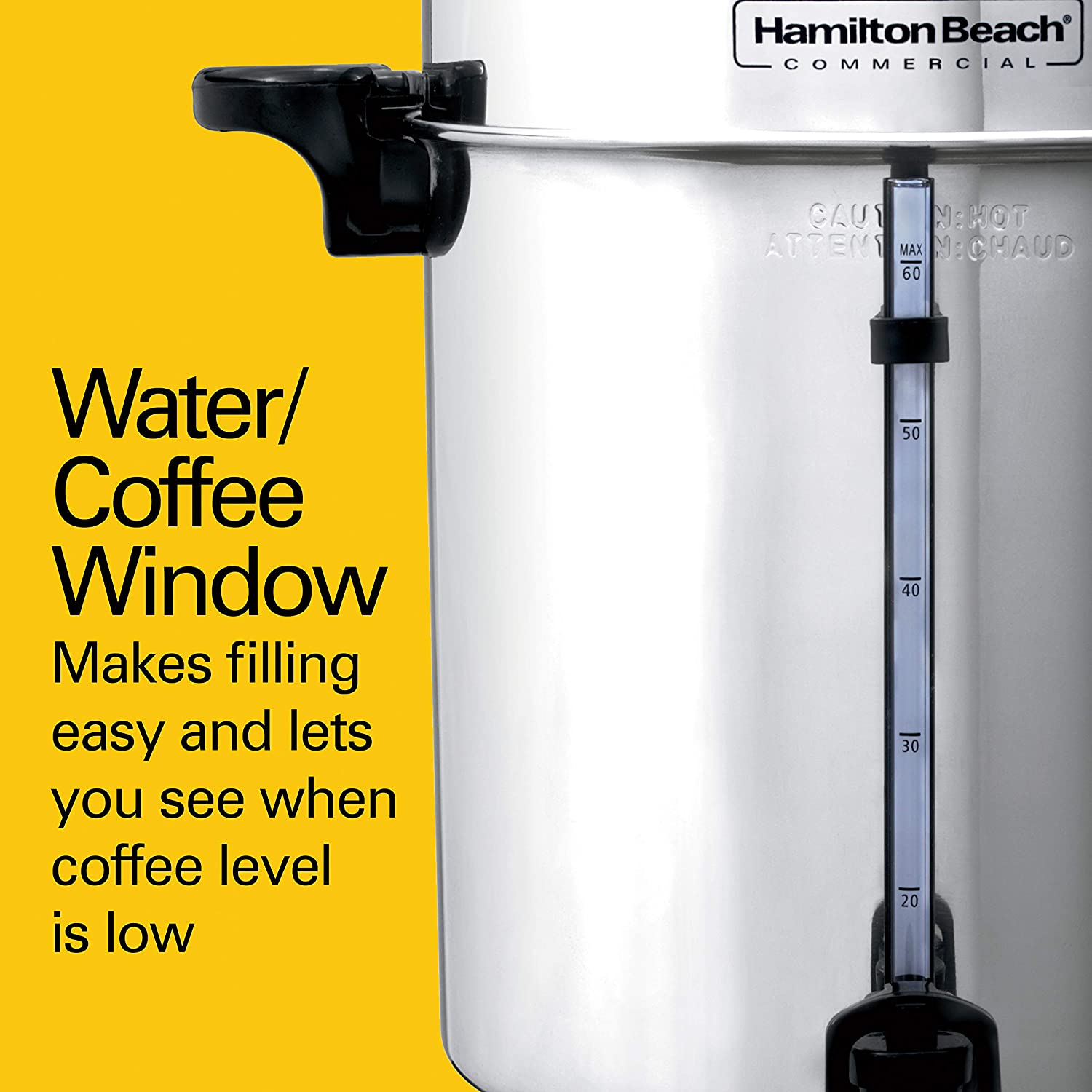 Hamilton Beach Commercial Stainless Steel Coffee Urn 60 Cup Capacity D50065 Coffee Urns Amazon Com