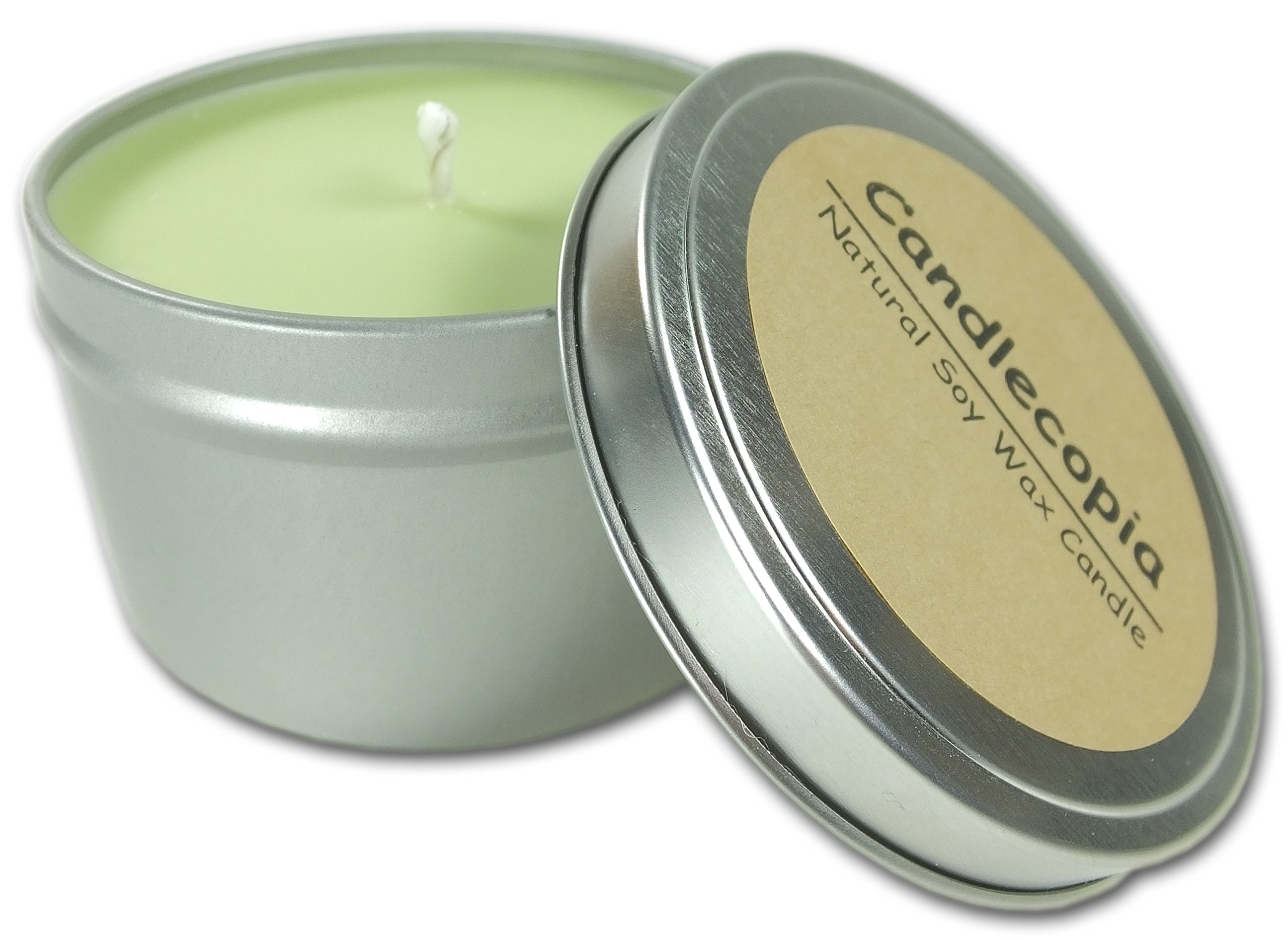 Candlecopia Jamaica Me Crazy Strongly Scented Sustainable Vegan Natural Soy Travel Tin Candle