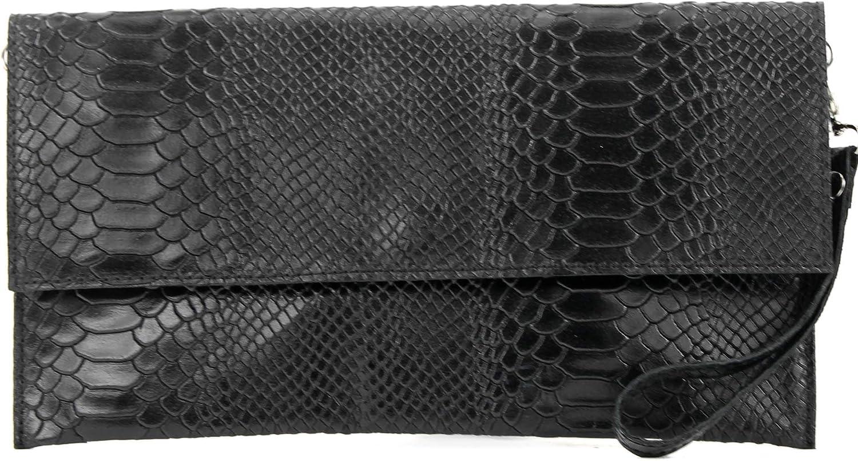 modamoda de cuir italien embrayage Petit Suede T151