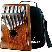 Moozica Koa Tone Wood 17 Keys Kalimba Marimba, High Quality Professional Finger Thumb Piano With Professional Kalimba Bag(Acacia Koa)