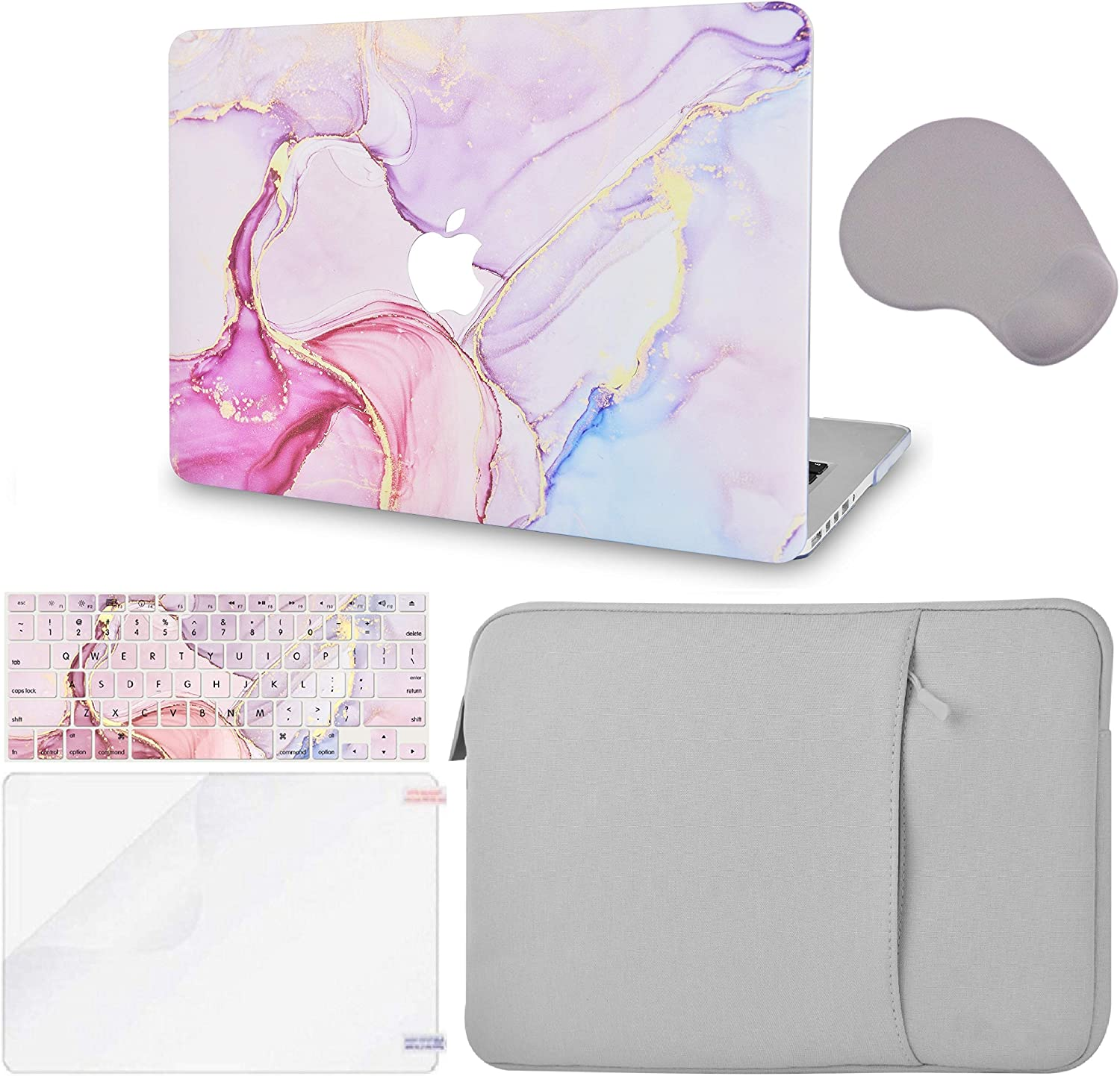 LuvCase 5 in 1 Laptop Case Compatible withMacBook Pro 12