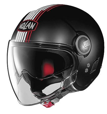b6028e5f Amazon.com: Nolan N21 Visor Joie De Vivre Open Face Helmet Flat Black MD:  Automotive