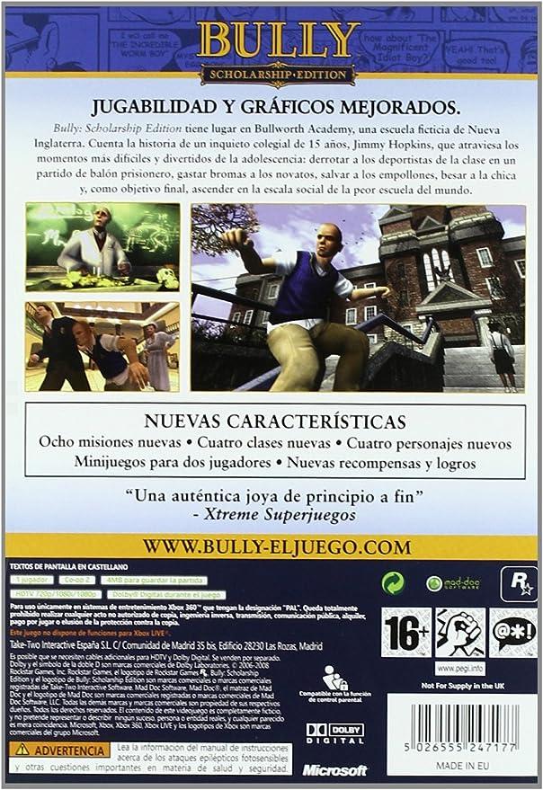 Bully: Scholarship Edition: Amazon.es: Videojuegos