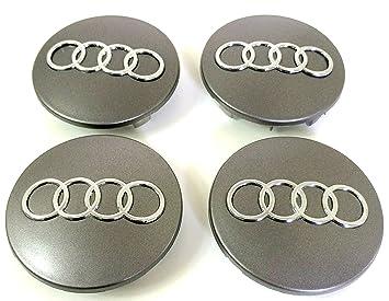 Tapacubos de 68 mm para llantas de aluminio, con logo de Audi: Amazon.es: Coche y moto