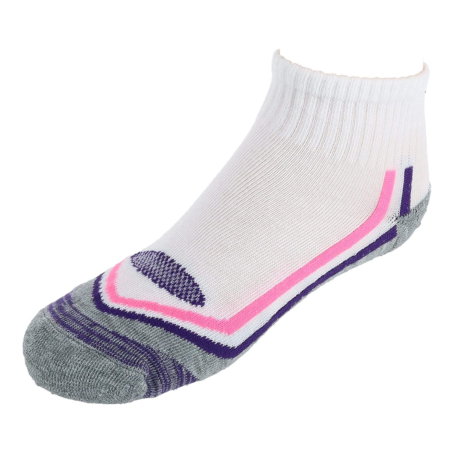 Hanes Girls Active Breathable Ankle Socks 4 Pair Pack