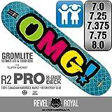 OMG! スケートボード デッキ スケボー ガーゼロゴ 7.0 / 7.25 / 7.375 / 7.75インチ 100% カナディアン ハードロック メイプル + エポキシ樹脂グルー