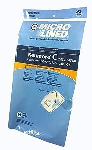 9 Vacuum Cleaner Bags for Sears Kenmore 5055 50557 50558 Panasonic C-5 C5 C Q