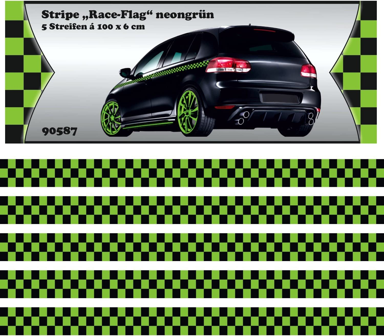 Carstyling Xxl Race Stripes Grün 5 M X 60 Mm Schneller Versand Innerhalb 24 Stunden Auto