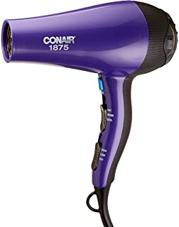 amazon com conair 1875 watt ionic conditioning hair dryer beauty conair 1875 watt thermal shine styler hair dryer purple