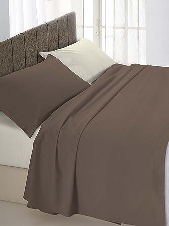 vendita ufficiale un'altra possibilità prezzo imbattibile Italian Bed Linen Completo Letto Matrimoniale, Marrone/Panna, 250 x 300