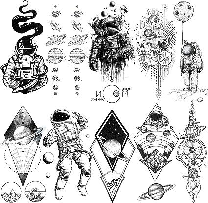LAROI 10 Hojas Astronauta Tatuajes Temporales Para Niños Dibujos ...