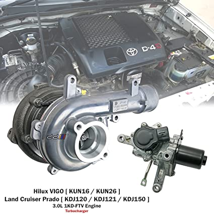 Amazon.com: Turbo Turbocharger For Toyota Hilux VIGO D4D KUN26 1KD 1KD-FTV CT16V 17201-0L040: Automotive