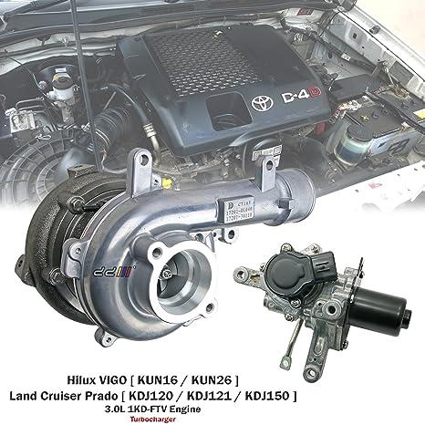 Turbo Turbocompresor para Toyota Hilux VIGO D4D kun26 1 KD 1 kd-ftv CT16 V