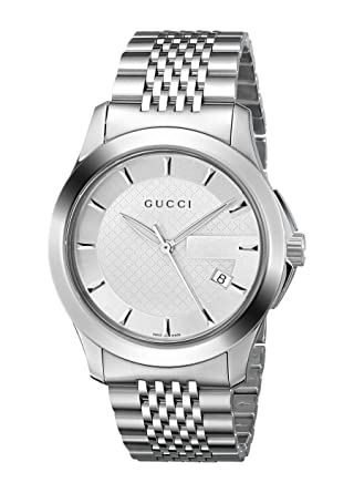 ffb78ed98d8 Amazon.com  Gucci Timeless Men s Watch(Model YA126401)  Gucci  Watches