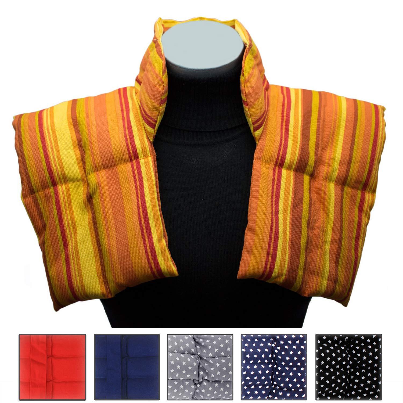 estrellas negro Bolsa T/érmica Cojin termico Grande Tipo Collar/ín Para Cuello y Hombros Almohada de Granos // Varios Colores Paquete T/érmico