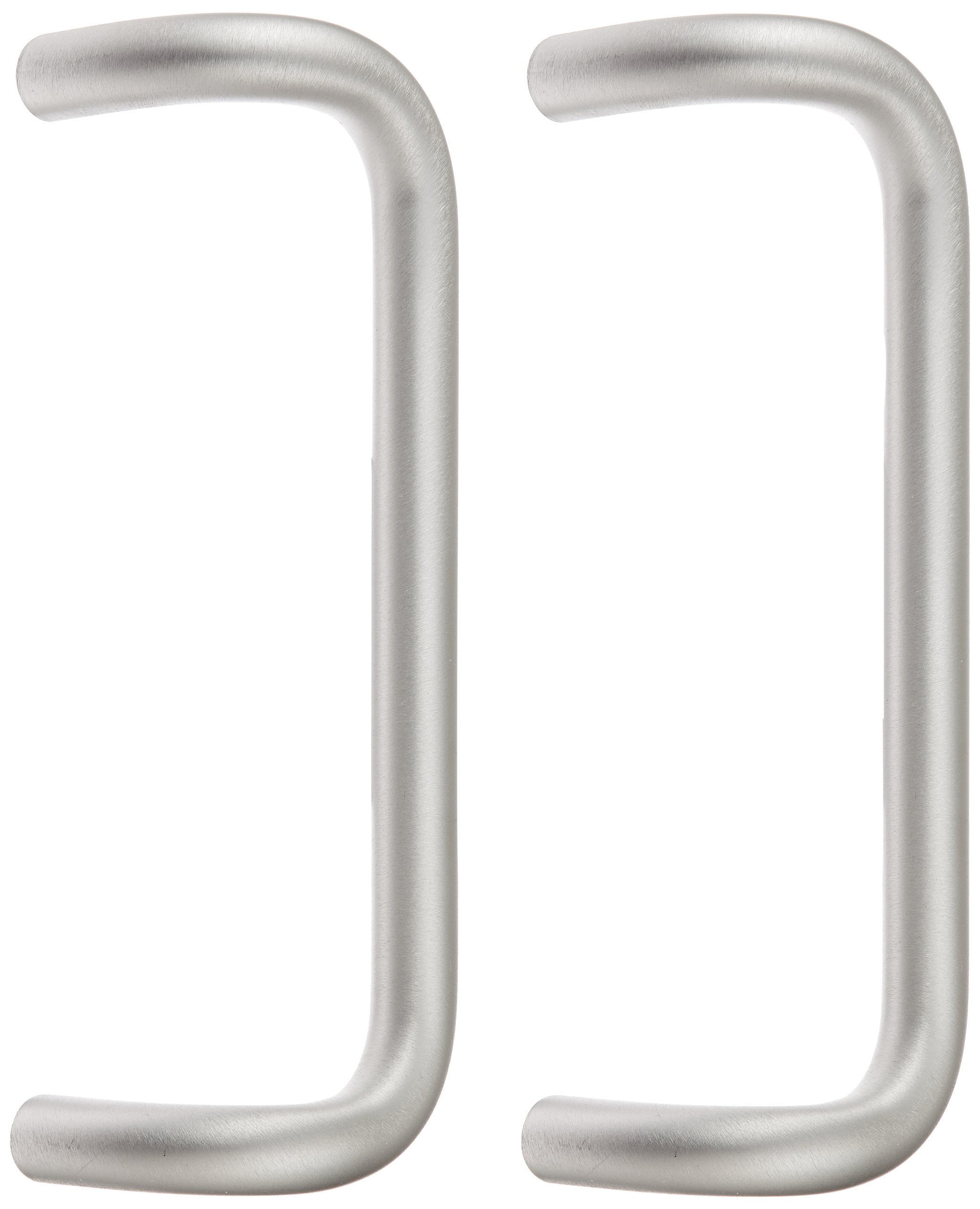 Rockwood BF158BTB16.28 Aluminum 90-Degree Offset Door Pull, 1'' Diameter x 12'' Center-to-Center, Back To Back Mounting for 1-3/4'' Door, Clear Anodized Finish