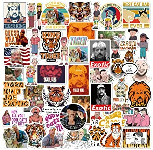 Classic American Movie Tiger King Stickers Laptop and Water Bottle Decal Waterproof Vinyl Stickers for Skateboard Motorcycle Bicycle Mobile Phone Luggage Guitar DIY Decal (Tiger King)