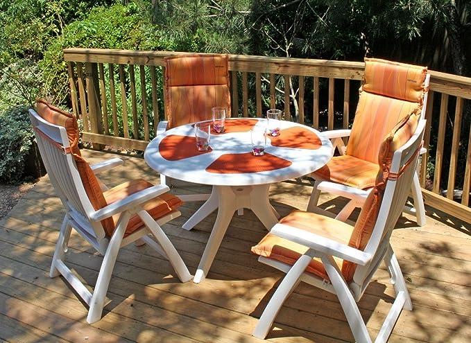 Amazon.com: PREMIUM – Patio Sillas madera silla reclinable ...