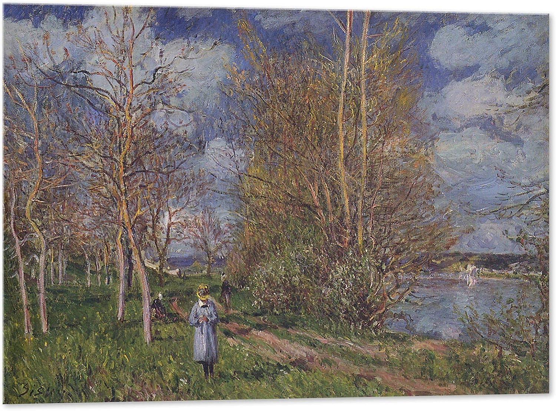 Kuader Alfred Sisley - Césped de Primavera (100 x 70 cm)