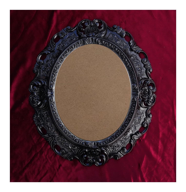 Lnxp BILDERRAHMEN Antik Barock in der Farbe: Schwarz 45x38 cm Oval ...