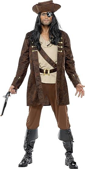 Smiffys Disfraz de bucanero, marrón, Chaqueta, Camisa, Pantalones ...