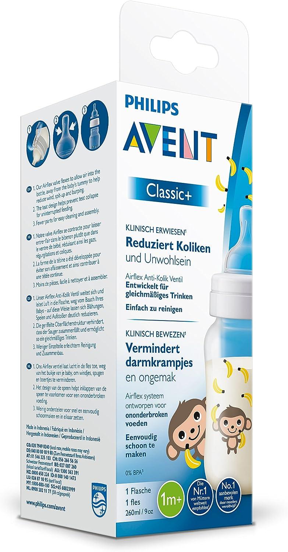 D/écor/é Biberon Singe 260 ml Philips Avent Classic