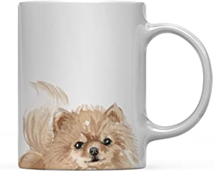 Andaz Press 11oz. Dog Coffee Mug Gift, Pomeranian Up Close, 1-Pack, Pet Animal Lover Birthday Christmas Gift for Her Family