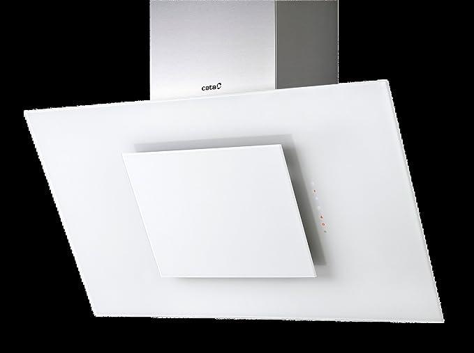 Luxus – Campana extractora 60 cm/libre de cabeza/cristal blanco de acero inoxidable Pared/Sensor Control/muy Nacido. 1100 m³/h/Borde aspiración/TOP calidad europea: Amazon.es: Grandes electrodomésticos