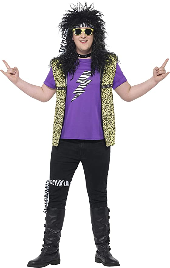 80s Costumes, Outfit Ideas- Girls and Guys Smiffys Curves 80s Rock Star Costume £29.99 AT vintagedancer.com