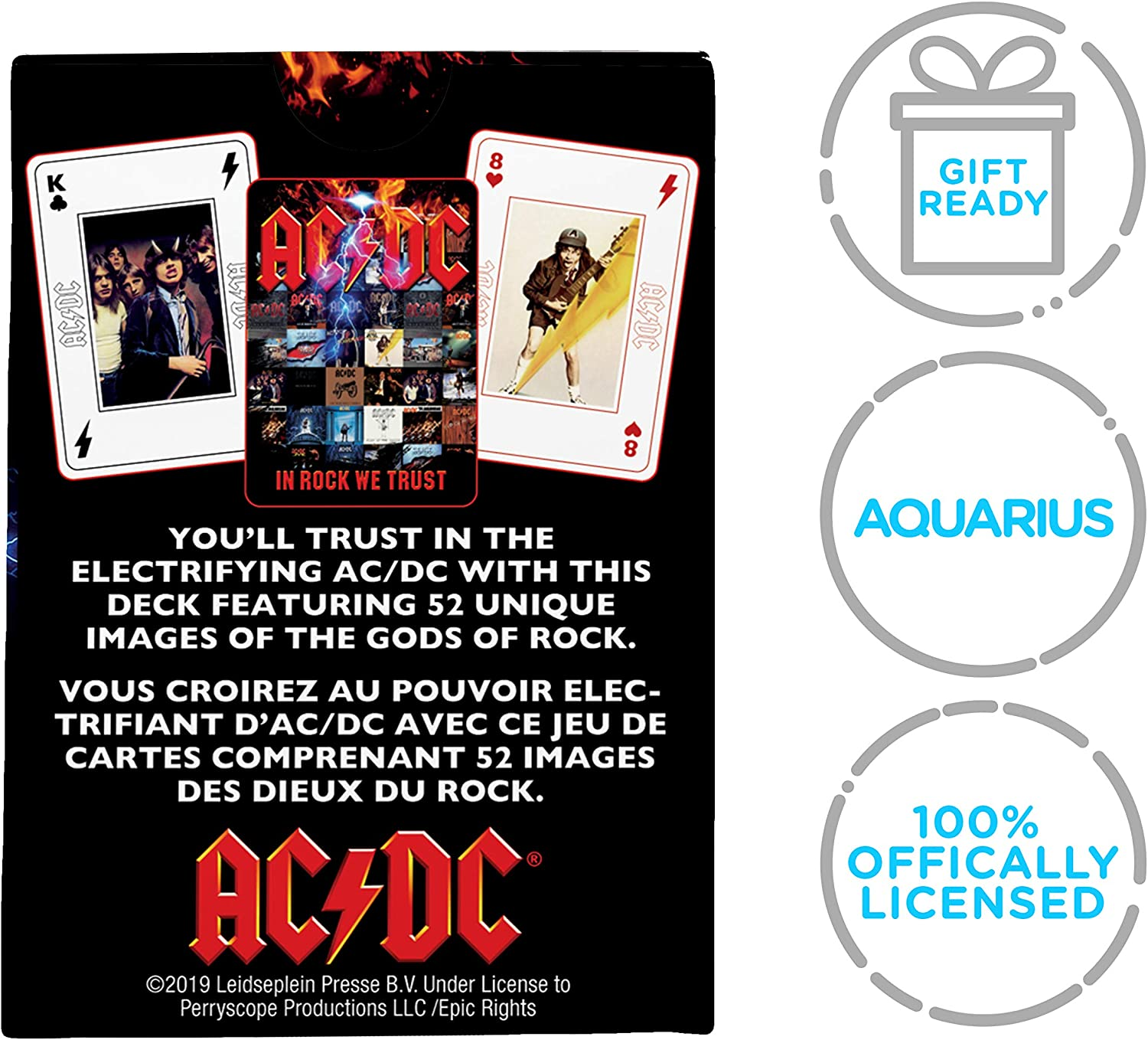 AC//DC Playing Cards  Poker Sized Deck  Official//Licensed   NEW