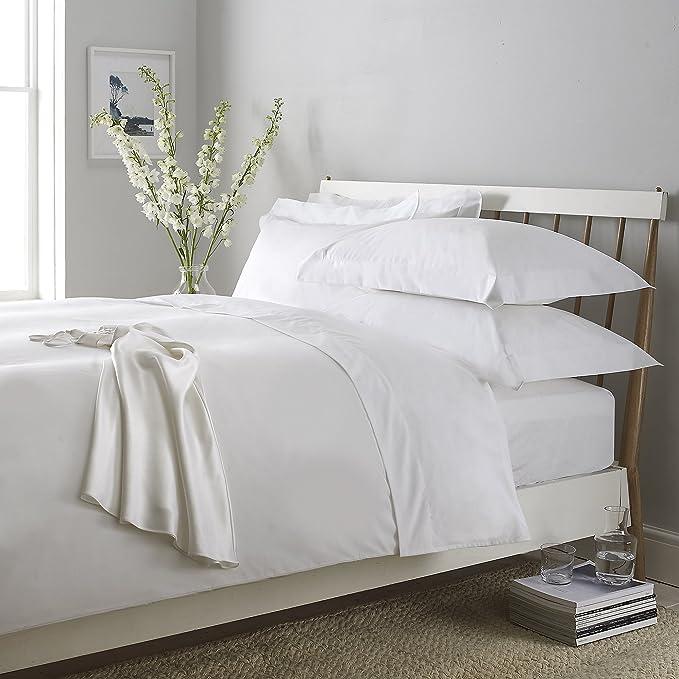 100% algodón egipcio de 300 hilos sábana bajera ajustable, blanco ...