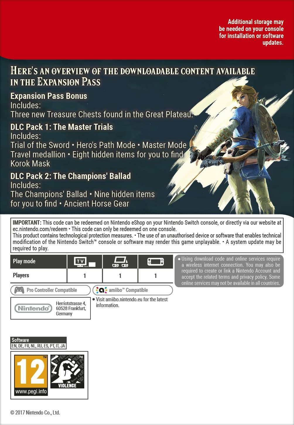 The Legend of Zelda: Breath of the Wild Expansion Pass DLC