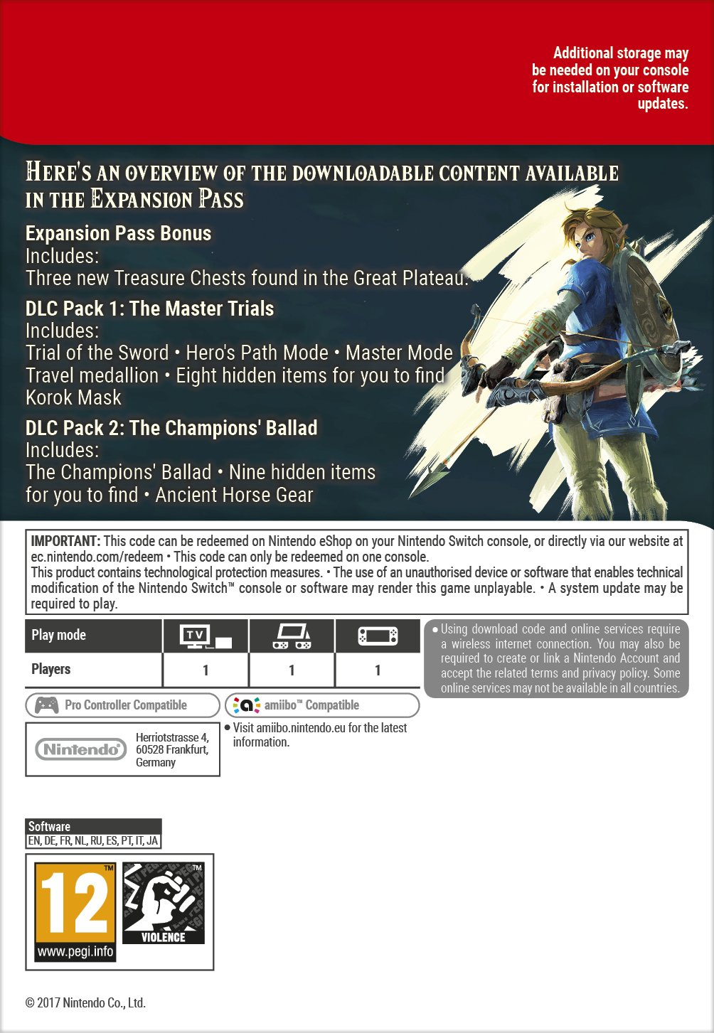 The Legend of Zelda: Breath of the Wild Expansion Pass DLC [Switch